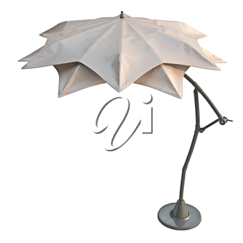Double open beach umbrella, for relax. 3D graphic