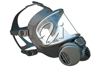 Safety pro mask apparatus for protection. 3D graphic