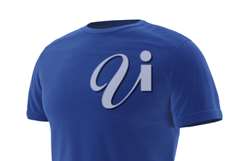 T-shirt clothes sports, close view. 3D graphic
