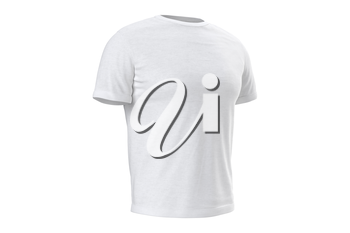 T-shirt white mens textile clothing. 3D graphic