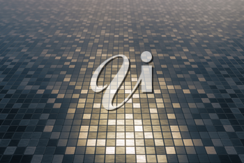 Mosaic square pattern texture background. 3D rendering