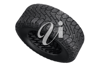 Tire black dirt rubber protector. 3D rendering