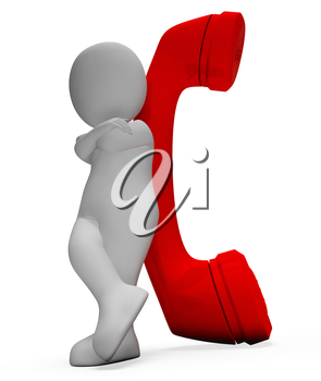 Call Character Representing Communicate Discussion And Render 3d Rendering