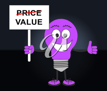 Price Versus Value Sign Demonstrating Product Evaluation Of Cost And Worth. Budgeting Of Buying And Selling - 3d Illustration