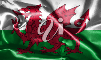 Wales National Flag Grunge Looking 3D illustration