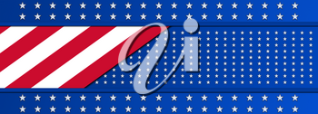 Independence Day, 4th Of July National Holiday in United States of America. Background Banner With US Colors and Stars